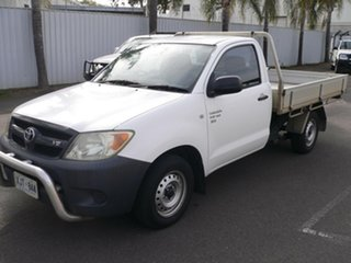 2006 Toyota Hilux GGN15R MY05 SR 4x2 White 5 Speed Manual Cab Chassis