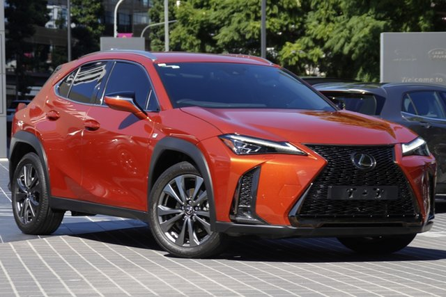 Used Lexus UX MZAA10R UX200 2WD F Sport Newstead, 2018 Lexus UX MZAA10R UX200 2WD F Sport Orange 1 Speed Constant Variable Hatchback