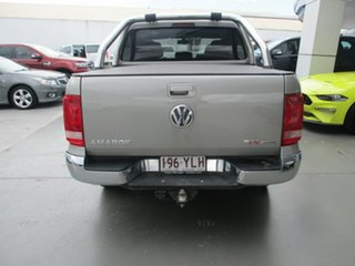 2014 Volkswagen Amarok 2H MY14 TDI400 Trendline (4x4) Beige 6 Speed Manual Dual Cab Utility.