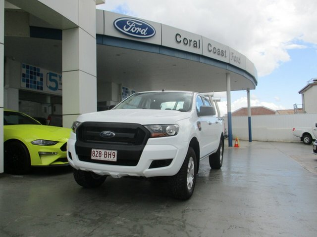 Used Ford Ranger XL XL 2.2 (4x4) Bundaberg, 2016 Ford Ranger XL XL 2.2 (4x4) White 6 Speed Automatic Dual Cab