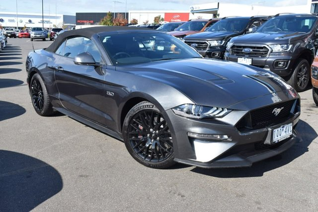 Used Ford Mustang FN 2019MY GT Essendon Fields, 2019 Ford Mustang FN 2019MY GT Grey 10 Speed Sports Automatic Convertible