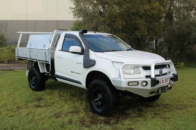 Used Holden Colorado RG MY13 LX Crew Cab Ormeau, 2012 Holden Colorado RG MY13 LX Crew Cab White 5 Speed Manual Cab Chassis