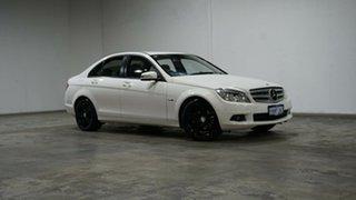 2010 Mercedes-Benz C-Class W204 MY10 C200 CGI Classic White 5 Speed Sports Automatic Sedan.
