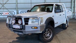 2007 Ford Ranger PJ XL Crew Cab White 5 Speed Manual Cab Chassis.