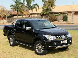 2016 Mitsubishi Triton MQ MY17 GLS Double Cab Black 5 Speed Sports Automatic Utility