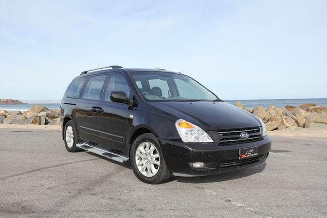 Used Kia Grand Carnival VQ Premium Lonsdale, 2008 Kia Grand Carnival VQ Premium Black 5 Speed Sports Automatic Wagon