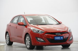 2013 Hyundai i30 GD Active Tropic Red 6 Speed Sports Automatic Hatchback.