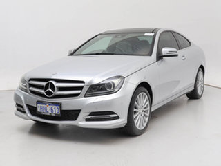 2014 Mercedes-Benz C180 W204 MY14 Silver 7 Speed Automatic G-Tronic Coupe.