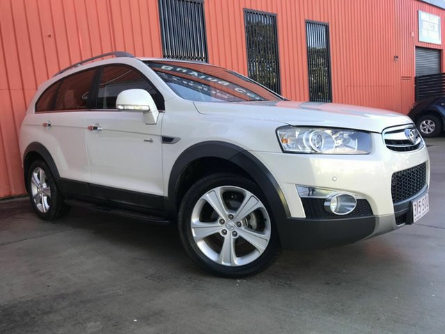 Used Holden Captiva CG Series II MY12 7 AWD LX Molendinar, 2012 Holden Captiva CG Series II MY12 7 AWD LX White 6 Speed Sports Automatic Wagon