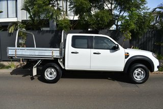2010 Ford Ranger PK XL Crew Cab 4x2 Hi-Rider White 5 Speed Automatic Cab Chassis