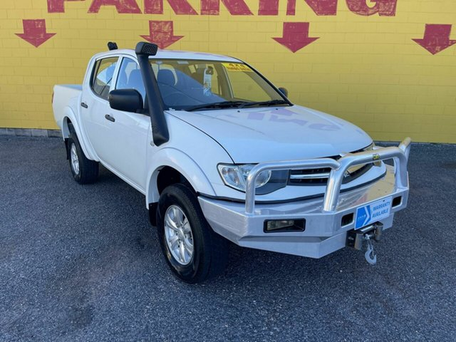 Used Mitsubishi Triton MN MY15 GLX Double Cab Winnellie, 2014 Mitsubishi Triton MN MY15 GLX Double Cab White 4 Speed Sports Automatic Utility