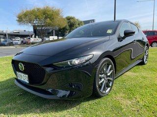 2020 Mazda 3 BP2HLA G25 SKYACTIV-Drive Evolve Jet Black 6 Speed Sports Automatic Hatchback.