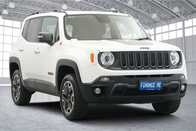 Used Jeep Renegade BU MY15 Trailhawk AWD Victoria Park, 2015 Jeep Renegade BU MY15 Trailhawk AWD Alpine White 9 Speed Sports Automatic Hatchback
