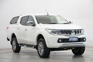 2016 Mitsubishi Triton MQ MY17 GLX+ Double Cab White 5 Speed Sports Automatic Utility