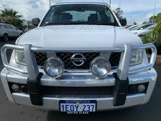 2009 Nissan Navara D40 RX King Cab White 5 Speed Automatic Cab Chassis