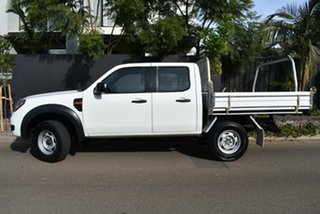 2010 Ford Ranger PK XL Crew Cab 4x2 Hi-Rider White 5 Speed Automatic Cab Chassis.
