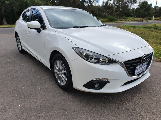 Used Mazda 3 Touring Geelong, 2015 Mazda 3 BM Series Touring White Sports Automatic Hatchback