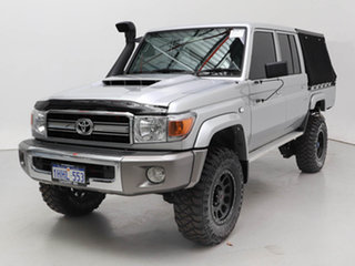 2020 Toyota Landcruiser 70 Series VDJ79R GXL Silver 5 Speed Manual Double Cab Chassis.