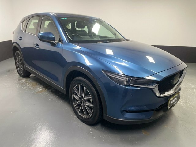 Used Mazda CX-5 KF4WLA GT SKYACTIV-Drive i-ACTIV AWD Hamilton, 2018 Mazda CX-5 KF4WLA GT SKYACTIV-Drive i-ACTIV AWD Blue 6 Speed Sports Automatic Wagon