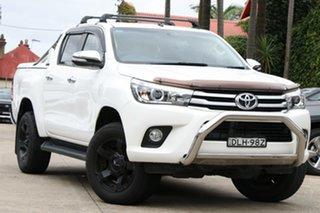 2017 Toyota Hilux GUN126R SR5 (4x4) Glacier White 6 Speed Automatic Dual Cab Utility.