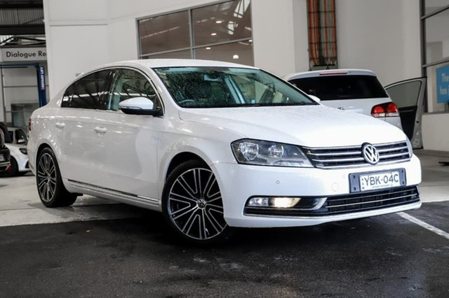 Used Volkswagen Passat Type 3C MY13.5 130TDI DSG Highline Sutherland, 2013 Volkswagen Passat Type 3C MY13.5 130TDI DSG Highline White 6 Speed Sports Automatic Dual Clutch