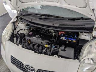 2008 Toyota Yaris NCP90R YR White 5 Speed Manual Hatchback