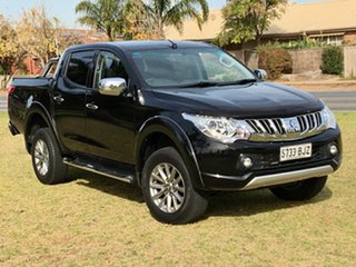 2016 Mitsubishi Triton MQ MY17 GLS Double Cab Black 5 Speed Sports Automatic Utility.