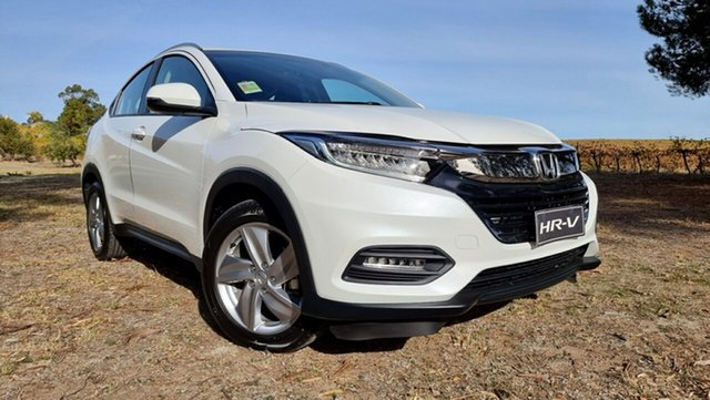 New Honda HR-V MY21 VTi-S Tanunda, 2021 Honda HR-V MY21 VTi-S Platinum White 1 Speed Automatic Hatchback