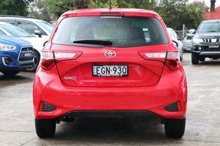 2019 Toyota Yaris NCP130R Ascent Cherry 4 Speed Automatic Hatchback