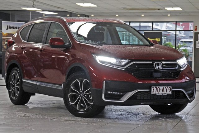 Demo Honda CR-V RW MY21 VTi FWD L7 Mount Gravatt, 2020 Honda CR-V RW MY21 VTi FWD L7 Ignite Red 1 Speed Constant Variable Wagon