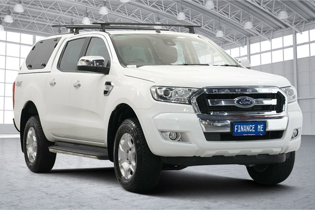 Used Ford Ranger PX MkII XLT Double Cab Victoria Park, 2016 Ford Ranger PX MkII XLT Double Cab White 6 Speed Sports Automatic Utility