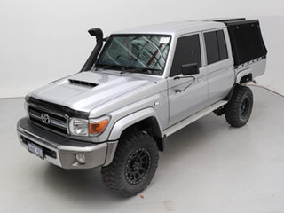 2020 Toyota Landcruiser 70 Series VDJ79R GXL Silver 5 Speed Manual Double Cab Chassis