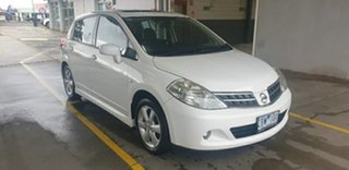 2011 Nissan Tiida C11 S3 TI White 4 Speed Automatic Hatchback.