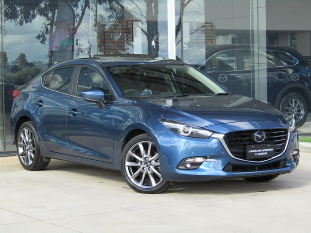 Used Mazda 3 BN5238 SP25 SKYACTIV-Drive Astina Ravenhall, 2017 Mazda 3 BN5238 SP25 SKYACTIV-Drive Astina Blue 6 Speed Sports Automatic Sedan