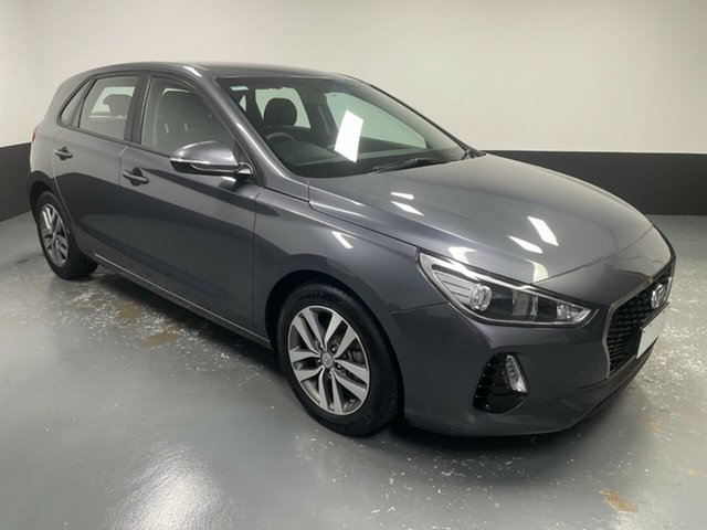 Used Hyundai i30 PD MY18 Active Hamilton, 2017 Hyundai i30 PD MY18 Active Iron Gray 6 Speed Sports Automatic Hatchback