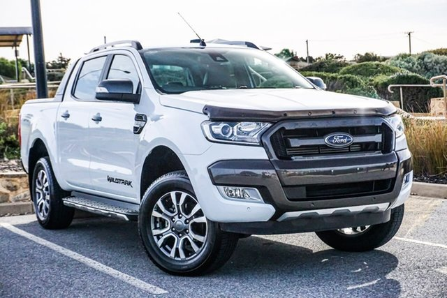 Used Ford Ranger PX MkII 2018.00MY Wildtrak Double Cab Christies Beach, 2018 Ford Ranger PX MkII 2018.00MY Wildtrak Double Cab White 6 Speed Sports Automatic Utility