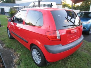 2010 Hyundai Getz TB MY09 SX Red 4 Speed Automatic Hatchback