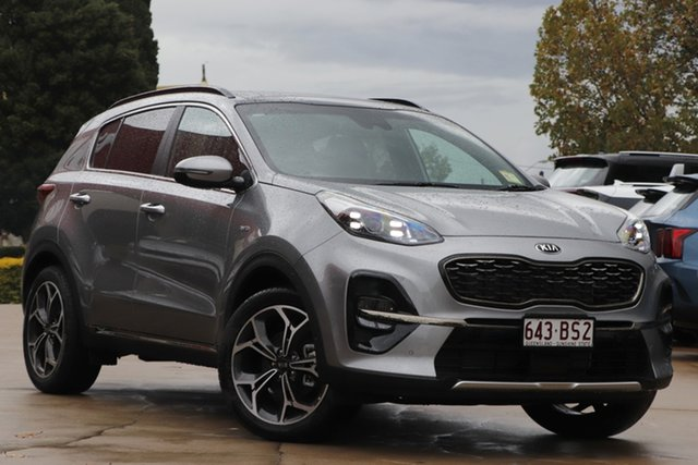 Demo Kia Sportage QL MY21 GT-Line AWD Toowoomba, 2020 Kia Sportage QL MY21 GT-Line AWD Steel Grey 6 Speed Sports Automatic Wagon