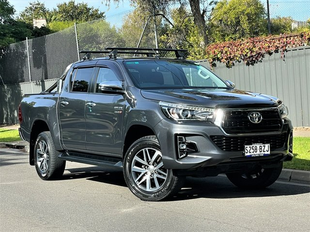 Used Toyota Hilux GUN126R SR5 Double Cab Hyde Park, 2019 Toyota Hilux GUN126R SR5 Double Cab Grey 6 Speed Sports Automatic Utility
