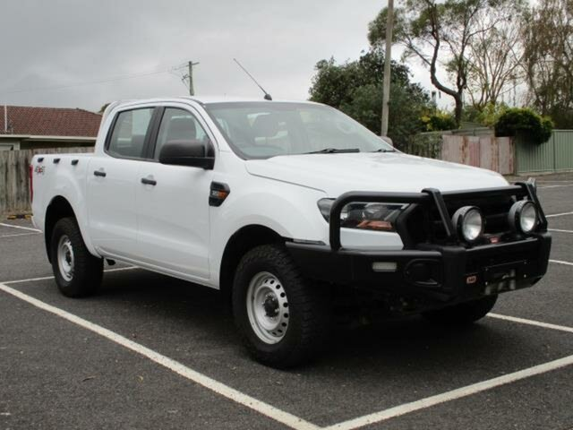 Used Ford Ranger XL Timboon, 2017 Ford Ranger PX MkII Turbo XL White Auto Seq Sportshift Double Cab Pick Up