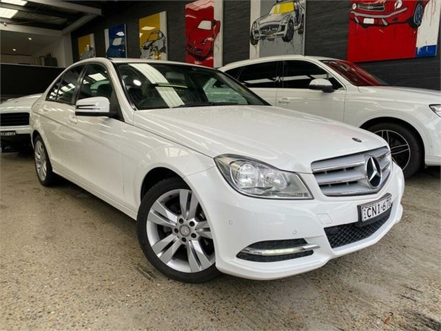 Used Mercedes-Benz C-Class W204 Glebe, 2012 Mercedes-Benz C-Class W204 C200 CDI BlueEFFICIENCY White Sports Automatic Sedan