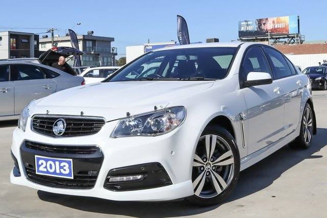 Used Holden Commodore VF MY14 SV6 Coburg North, 2013 Holden Commodore VF MY14 SV6 White 6 Speed Sports Automatic Sedan