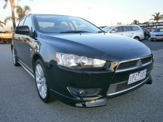 2008 Mitsubishi Lancer CJ MY08 Olympic Special Black 6 Speed Constant Variable Sedan.