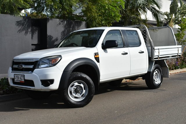 Used Ford Ranger PK XL Crew Cab 4x2 Hi-Rider Brighton, 2010 Ford Ranger PK XL Crew Cab 4x2 Hi-Rider White 5 Speed Automatic Cab Chassis