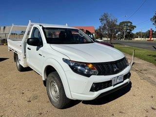 2016 Mitsubishi Triton White Automatic Utility.