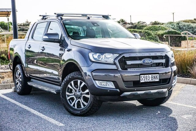 Used Ford Ranger PX MkII Wildtrak Double Cab Christies Beach, 2016 Ford Ranger PX MkII Wildtrak Double Cab Grey 6 Speed Sports Automatic Utility