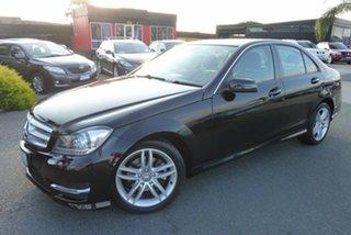 2012 Mercedes-Benz C-Class W204 MY13 C200 BlueEFFICIENCY 7G-Tronic + Elegance Black 7 Speed.