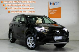 2017 Toyota RAV4 ASA44R GX AWD Black 6 Speed Sports Automatic Wagon.
