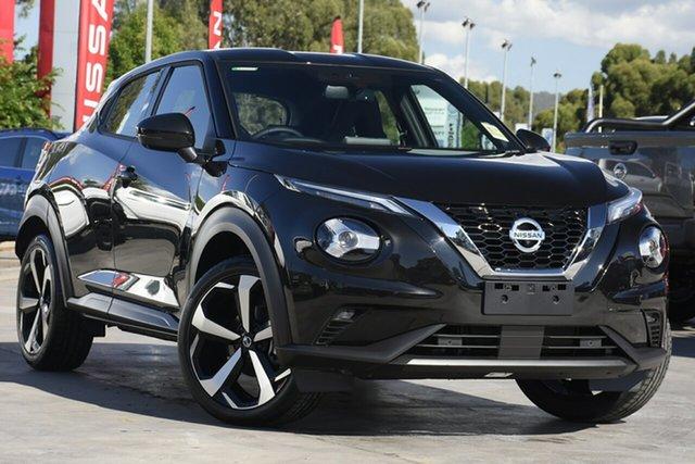 New Nissan Juke F16 ST-L DCT 2WD Essendon Fields, 2021 Nissan Juke F16 ST-L DCT 2WD Pearl Black 7 Speed Sports Automatic Dual Clutch Hatchback