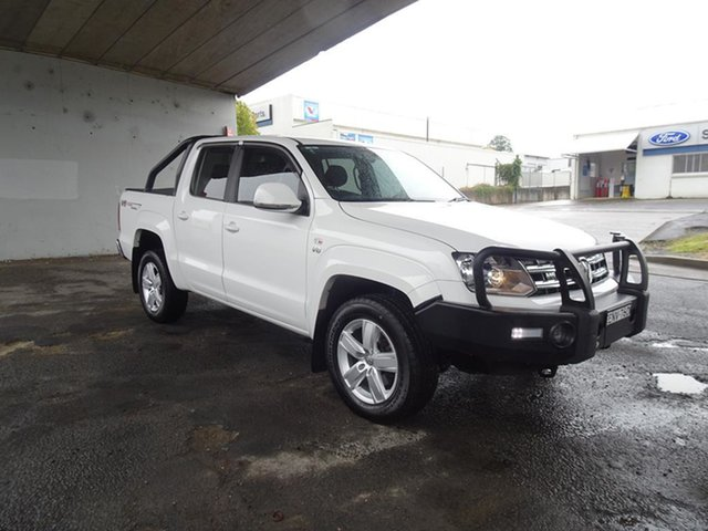 Used Volkswagen Amarok 2H MY18 TDI550 4MOTION Perm Sportline Nowra, 2018 Volkswagen Amarok 2H MY18 TDI550 4MOTION Perm Sportline Candy White 8 Speed Automatic Utility